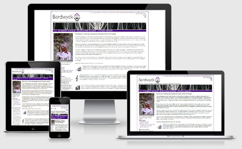 a fluid, responsive website by Sibra for Bardwyck, management and operations consultants